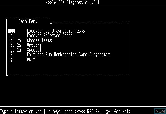 Apple IIe Diagnostic
