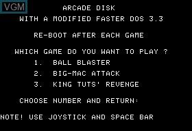 Ball Blaster & Bic-Mac Attack & King Tuts' Revenge