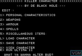 Ultima II Killer Character