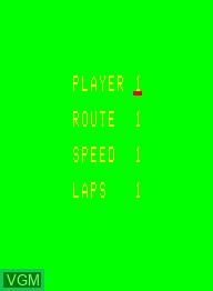 Image de l'ecran titre du jeu Autorace sur Emerson Radio Corp. Arcadia 2001