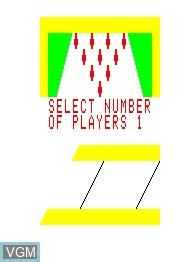 Image de l'ecran titre du jeu Bowling 3D sur Emerson Radio Corp. Arcadia 2001
