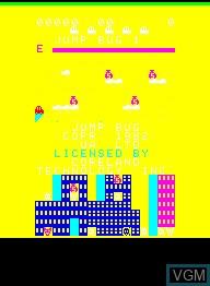 Image de l'ecran titre du jeu Jump Bug sur Emerson Radio Corp. Arcadia 2001