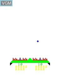 Image de l'ecran titre du jeu Missile War sur Emerson Radio Corp. Arcadia 2001