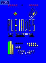 Image de l'ecran titre du jeu Pleiades sur Emerson Radio Corp. Arcadia 2001
