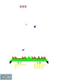 Image in-game du jeu Missile War sur Emerson Radio Corp. Arcadia 2001