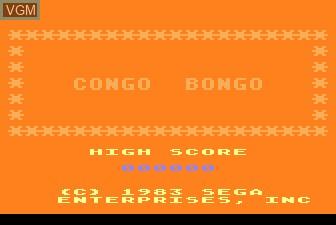 Image de l'ecran titre du jeu Congo Bongo sur Atari 5200