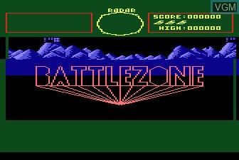 Image de l'ecran titre du jeu Battlezone sur Atari 5200