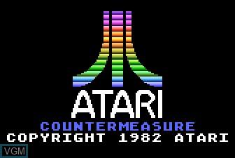 Image de l'ecran titre du jeu Countermeasure sur Atari 5200