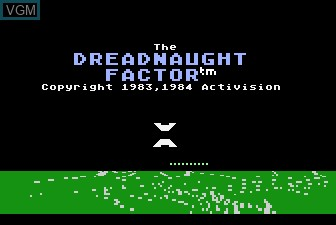 Image de l'ecran titre du jeu Dreadnaught Factor, The sur Atari 5200