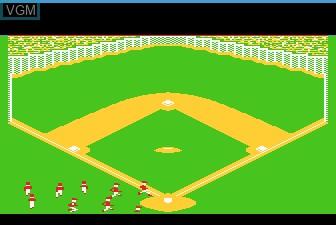 Image du menu du jeu Barroom Baseball sur Atari 5200