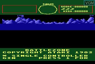 Image du menu du jeu Battlezone sur Atari 5200