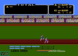 Image in-game du jeu Activision Decathlon, The sur Atari 5200
