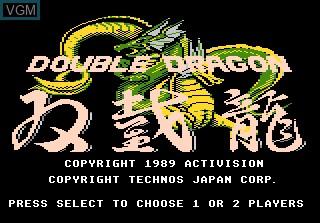 Image de l'ecran titre du jeu Double Dragon sur Atari 7800