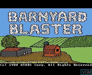 Image de l'ecran titre du jeu Barnyard Blaster sur Atari 7800
