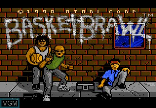 Image de l'ecran titre du jeu Basketbrawl sur Atari 7800