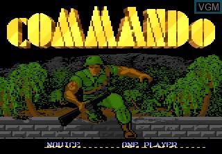 Image de l'ecran titre du jeu Commando sur Atari 7800