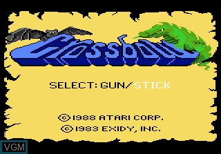 Image de l'ecran titre du jeu Crossbow sur Atari 7800