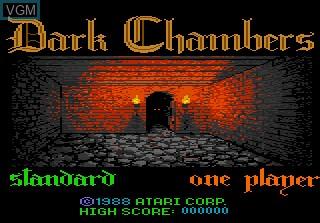 Image de l'ecran titre du jeu Dark Chambers sur Atari 7800