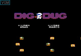 Image de l'ecran titre du jeu Dig Dug sur Atari 7800