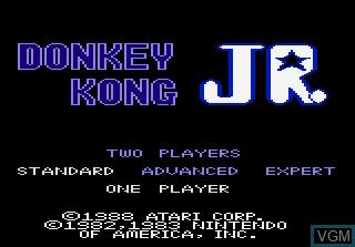 Image de l'ecran titre du jeu Donkey Kong Jr sur Atari 7800