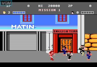Image du menu du jeu Double Dragon sur Atari 7800