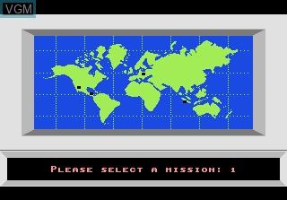 Image du menu du jeu F-18 Hornet sur Atari 7800