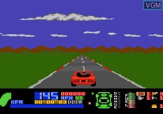 Image du menu du jeu Fatal Run sur Atari 7800