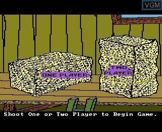 Image du menu du jeu Barnyard Blaster sur Atari 7800