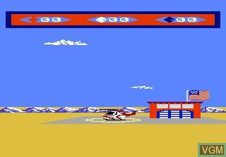 Image du menu du jeu Choplifter sur Atari 7800
