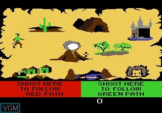 Image du menu du jeu Crossbow sur Atari 7800