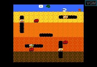 Image du menu du jeu Dig Dug sur Atari 7800