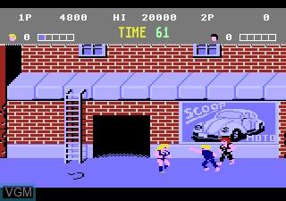 Image in-game du jeu Double Dragon sur Atari 7800