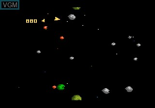Image in-game du jeu 3D Asteroids sur Atari 7800