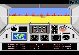 Image in-game du jeu F-18 Hornet sur Atari 7800