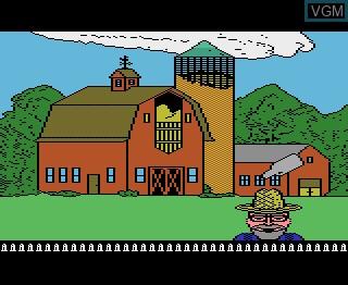 Image in-game du jeu Barnyard Blaster sur Atari 7800