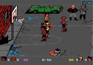 Image in-game du jeu Basketbrawl sur Atari 7800