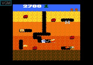 Image in-game du jeu Dig Dug sur Atari 7800