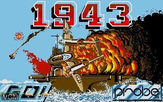 Image de l'ecran titre du jeu 1943 sur Atari ST