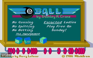 Image de l'ecran titre du jeu 8-Ball sur Atari ST