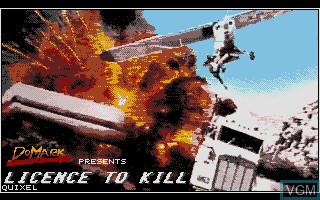 Image de l'ecran titre du jeu 007 - Licence to Kill sur Atari ST