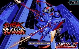 Image de l'ecran titre du jeu Dark Fusion sur Atari ST