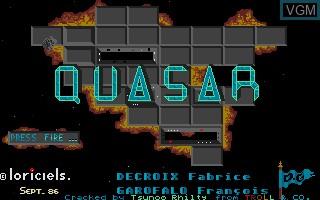 Image de l'ecran titre du jeu Quasar sur Atari ST