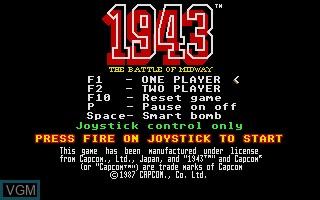 Image du menu du jeu 1943 sur Atari ST