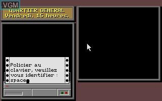 Image du menu du jeu A La Poursuite de Carmen Sandiego dans le Monde sur Atari ST