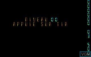 Image du menu du jeu Quasar sur Atari ST