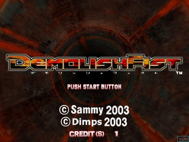 Image de l'ecran titre du jeu Demolish Fist sur Atomiswave