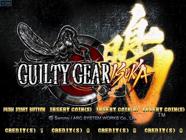 Image de l'ecran titre du jeu Guilty Gear Isuka sur Atomiswave