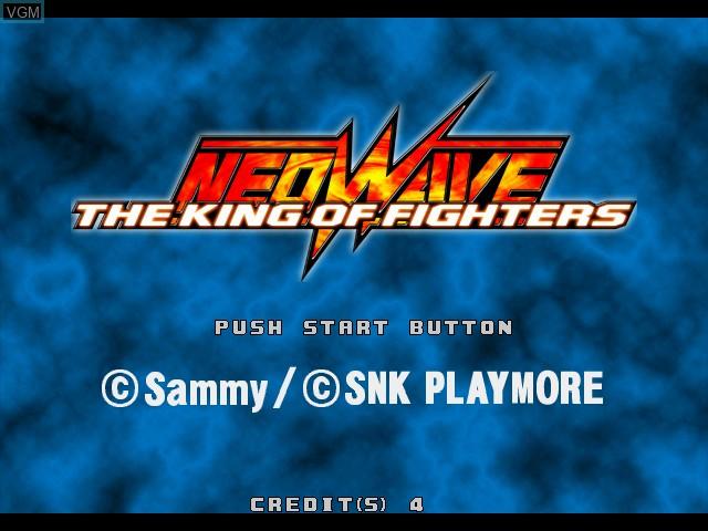 Image de l'ecran titre du jeu King of Fighters, The - Neowave sur Atomiswave