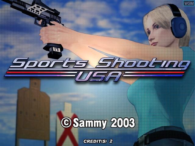 Image de l'ecran titre du jeu Sports Shooting USA sur Atomiswave
