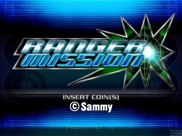 Image de l'ecran titre du jeu Ranger Mission sur Atomiswave